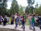 Библиотечный праздник  «Наш дом – Россия!»  в сквере за ТЦ «Семейный парк»